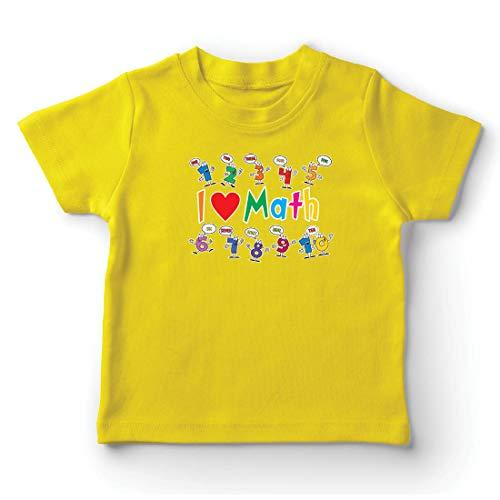 lepni.me Camiseta para Niño/Niña Amo Las matemáticas, el Regalo Educativo de Regreso a la Escuela o la graduación (9-11 Years Amarillo Multicolor)