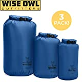 Wise Owl Outfitters Dry Bag 3-Pack - Fully Submersible Ultra-Lightweight Airtight Waterproof Bags - Diamond Ripstop...