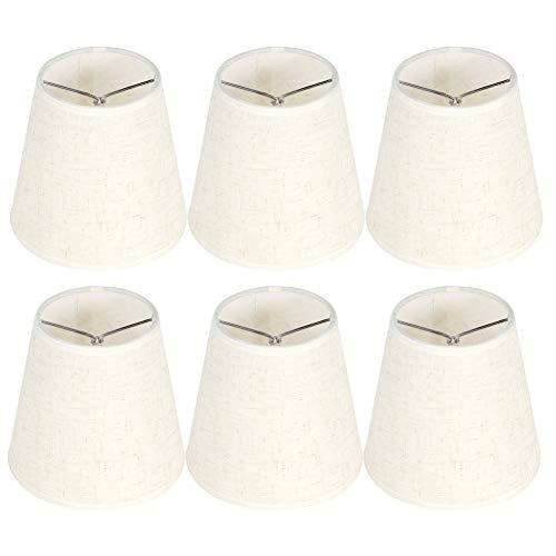 HERCHR Juego de 6 Pantallas de lámpara de Tela, Pantallas de lámpara de Tambor Clip de Repuesto en Pantalla para lámparas de Mesa Lámpara Colgante Lámpara de Pared Bombilla E14