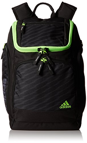 adidas Energy Backpack, Shockwave/Black/Onix/Solar Green, 19 3/4 x 13 x 9 1/2-Inch