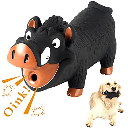 Hundespielzeug Quietschend Schwein Latex, Wildschwein Quitsche Spielzeug Hund Hundespielzeug Gummi Kuscheltier für Kleine und Mittelgroße Hunde Interaktives