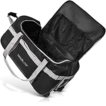 Rolling Duffle Bag with Wheels 85L Large Duffel Luggage Bags for Travel Black Wheeled Duffel Bag Luggage Carry on Rolling Duffel Bags for Traveling Foldable Collapsible Duffle Bag with Rollers