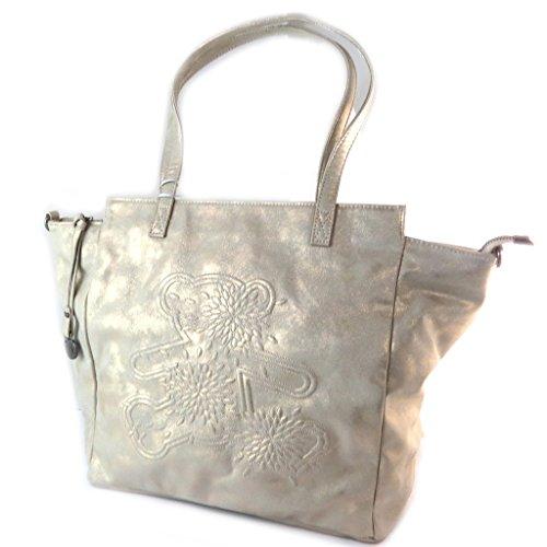Bolsa de diseñador 'Lulu Castagnette'de oro - 50x33x16 cm.