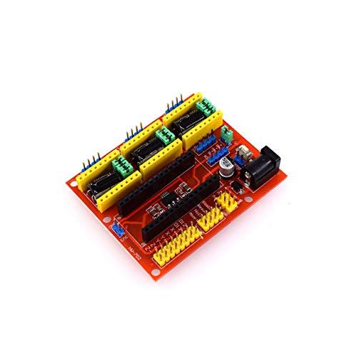 Ballylelly CNC Shield V4 Máquina de Grabado Controlador de Motor Paso a Paso para Impresora 3D Arduino Nano Tamaño portátil Componente electrónico