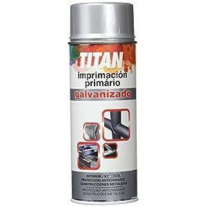 Titan S62000240 Spray Imprimación Galvanizado, Plata, 400 ml