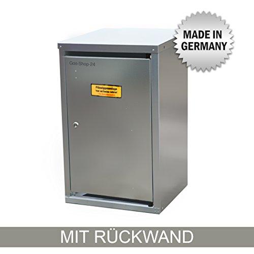 1 x 11 kg Propangas Flaschenschrank/Gasflaschenschrank verzinkt MIT RÜCKWAND (geeignet für 3-, 5, 10, 11 kg Gasflaschen - Gasschrank Schutzschrank)