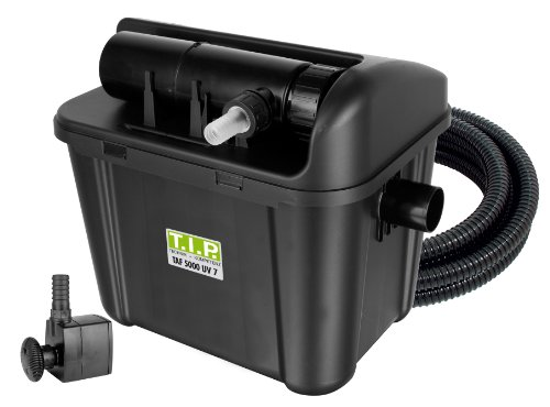 T.I.P. Teichaußenfilter TAF 5000 UV 7, UV-C 7 Watt, für Teiche bis zu 5.000 Liter