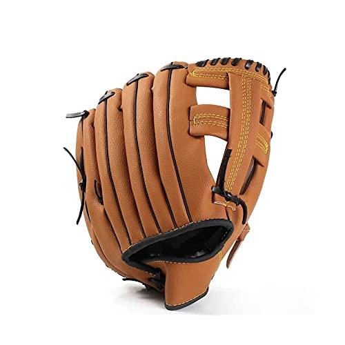 A+TTXH+L Guante béisbol Guante de béisbol de Deportes al Aire Libre Equipo de práctica de Softball Tamaño 10.5/11.5/12.5 Mano Izquierda Hombre Adulto Mujer Entrenamiento de Cuero marrón #a
