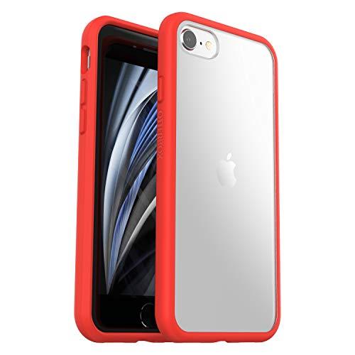 OtterBox per Apple iPhone SE (2nd gen)/8/7, Custodia sottile resistente a cadute, Gamma Sleek, Power Red Trasparente/Rosso - Senza Retail Package