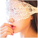 Lace Blindfold Eye Cover Sexy Lingerie Set for Women for Sex, Role Play Fancy Accessions for Romantic Date White