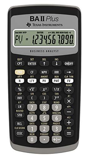 Texas Instruments IIBAPL/TBL/1L1 Plus Financial Calculator (Black)
