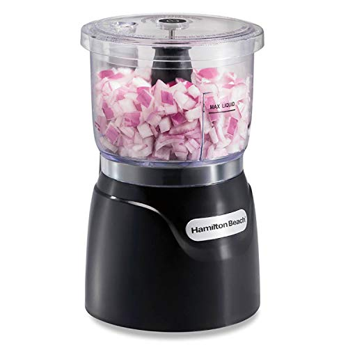 Hamilton Beach Mini 3-Cup Food Processor & Vegetable Chopper, 350 Watts, for Dicing, Mincing, and Puree, Black (72850)