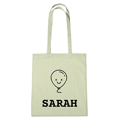 JOllify katoenen tas - Happy Birthday voor SARAH - BHB5906 Happy Balloon
