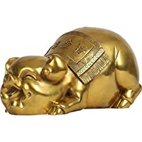 豚の旧正月のための真鍮風水豚像は、富を引き付ける中国の黄道帯の彫刻家の装飾祝福の贈り物、家の装飾