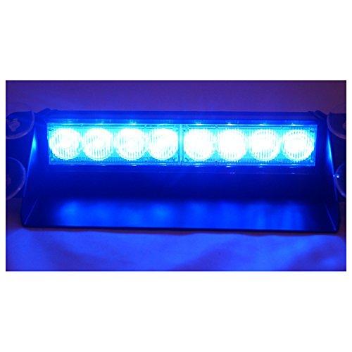 E-db 8 LED Frontblitzer/Straßenräumer - Auto Warnleuchten Blitzlicht Stand Licht Cargo Truck Strobe Leuchten - 12V (Blau)