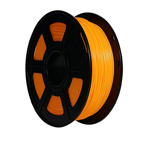3D Printer Filament PLA Filament 1.75mm Non Tangled PLA Filament 1kg Spool Printing Material Dimensional Accuracy + / - 0.03mm Suitable For FDM 3D Printer, Green And Orange PLA(Color:orange)