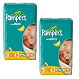 Couches Pampers - Taille 1 New Baby Dry - 86 Couches Bébé