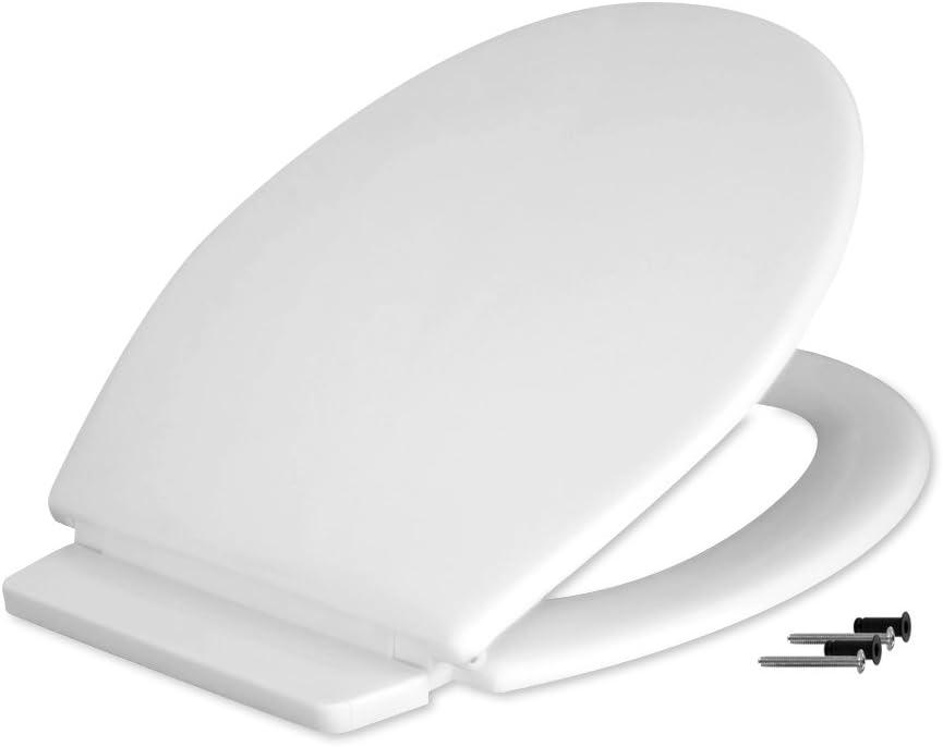 Fominaya 153600010 Tapa inodoro en polipropileno, color blanco, Negro, Estandar