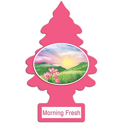 LITTLE TREES O aromatizador de ar para carro I para pendurar a árvore oferece um perfume de longa duração para o carro ou casa I Morning Fresh, 24 unidades, (4) 6 pacotes