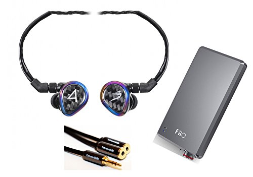 Astell&Kern Layla Special Edition by JH Audio 12 Driver in-Ear Monitor (IEM) with 3.5mm Stereo Splitter Cable and FiiO A5 (E12) Portable Headphone Amp
