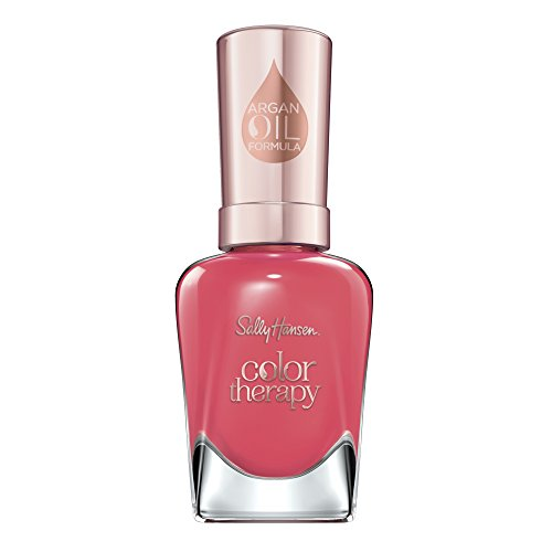 Sally Hansen Color Therapy Nagellack mit Arganöl Aura'nt You Relaxed?, Rot, sofort pflegender Farblack mit glänzendem Finish, Nr. 320, 1 x 14 ml