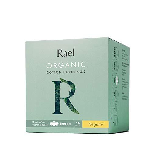 Rael Certified Organic Cotton Menstrual Regular Pads, Ultra Thin Natural Sanitary Napkins with Wings