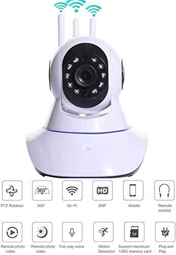 720P WiFi IP Camera Indoor Wireless Security Night Vision Home Surveillance Remote Motion Detect Alert Met Two-Way Audio for een kind/Dier/Elder HAOSHUAI