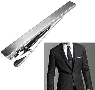Tone نقره ای فلزی مردان ساده کراوات کراوات نوار کلیپ بهترین هدیه کریسمس