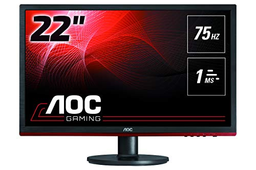 "AOC Monitores G2260VWQ6 - Pantalla para PC de 21.5"" FHD (resolución 1920 x 1080 Pixels, Flickerfree, FreeSync, Lowblue Mode, Contraste 1000:1, 1 ms, VESA, HDMI, Displayport)"
