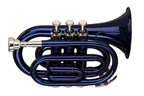 Stagg Bb Trompete mit Koffer, Blau lackiert