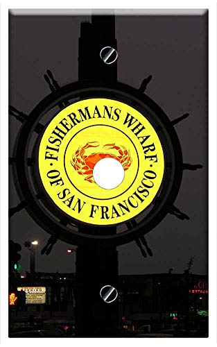 Single Hole Device Telephone/Cable Wall Plate Cover - Fishermans Wharf Francisco San Pier California