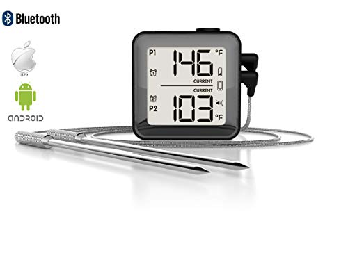 Cufabulo BTH01J Wireless Grill Food Meat Thermometer with Dual Probe for BBQ Cooking