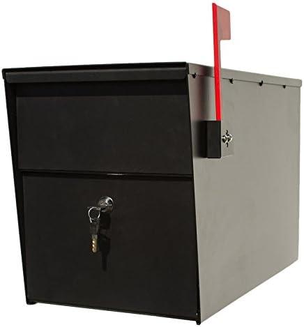 Qualarc LSLM-2000 LetterSentry Galvanized Steel Locking Post Mou