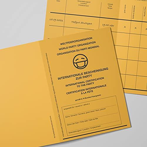 Einladung Einladungskarte als Impfpass für Geburtstag - Hochzeit - Komunion - Konfirmation (20)