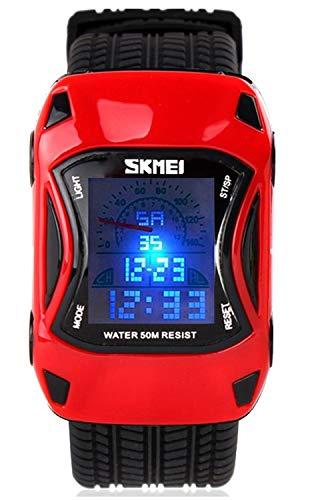 Kids Digital Sport Watch Outdoor Waterproof Watch LED Alarm Stopwatch Child Wristwatch, Child Watch for Age 5-10Wrist Boys, Girls