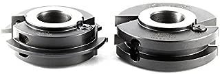 Amana Tool 61218 2-Piece Insert Carbide Adjustable Tongue & Groove 4 D x 1-3/16 CH x 1-1/4 Bore Shaper Cutter Set