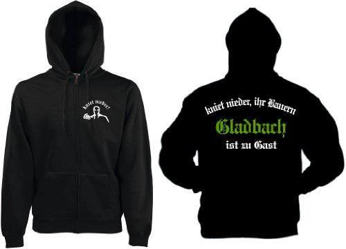 world-of-shirt Gladbach Herren Kapuzenjacke Ultras kniet nieder.