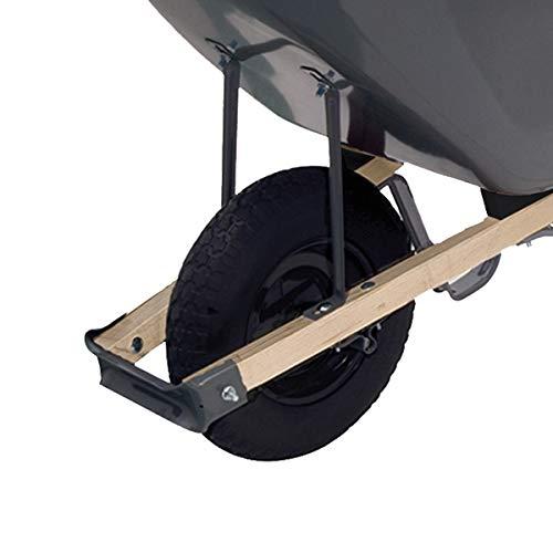 True Temper R6FF25 6 Cu. Ft Steel Tray Wheelbarrow, 6-Cubic Foot Capacity