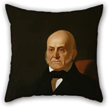 Pillow Covers Of Oil Painting George Caleb Bingham - John Quincy Adams,for Adults,relatives,dinning Room,car,family,seat 16 X 16 Inches / 40 By 40 Cm(twice Sides)