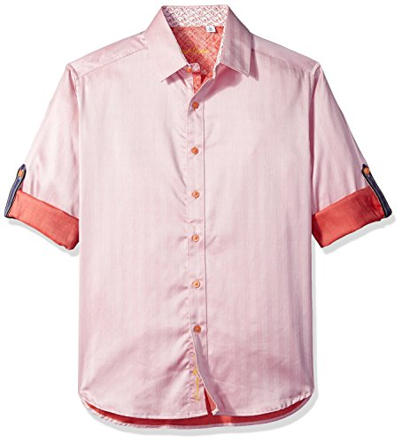 Robert Graham Herren Canton Classic Fit Sport Shirt Button Down Hemd, Lachsfarben, XX-Large