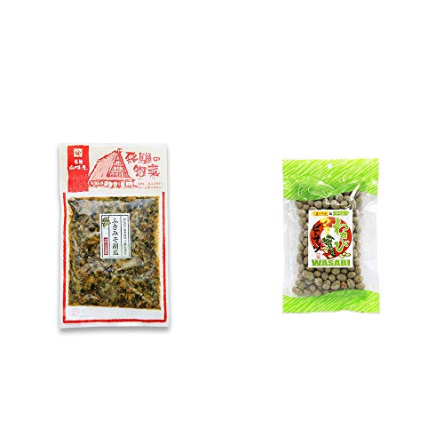 [2点セット] 飛騨山味屋 ふきみそ胡瓜(120g) ・わさびマヨピーナッツ(150g)