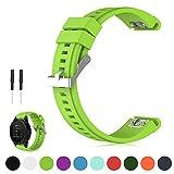 iFeeker 26mm Breite Schnellinstallation Soft Silikon Ersatz Armbanduhr Armband für Garmin Fenix 5X...