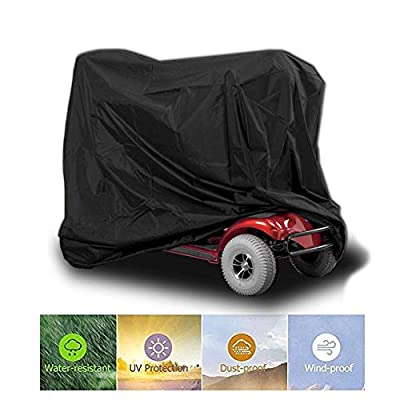 josietomy Heavy Duty Electric Mobility Scooter Storage Rain Large Cover Waterproof Duty Rain Protection for Outside Storage 672446INCH