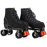 Roller Skates Doble Fila Skate para niños y niñas Gran Principiante niños Quad Patines, la Rueda de la PU Resistente al Desgaste,44