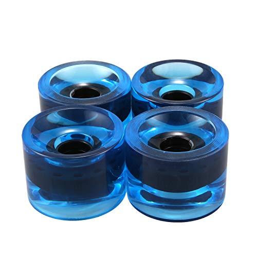 Kamenda 4 Stück Longboard/Skateboard Rollen, Cruiserboard Skateboard Rollen Ersatzradsatz 70x51mm(Blau)