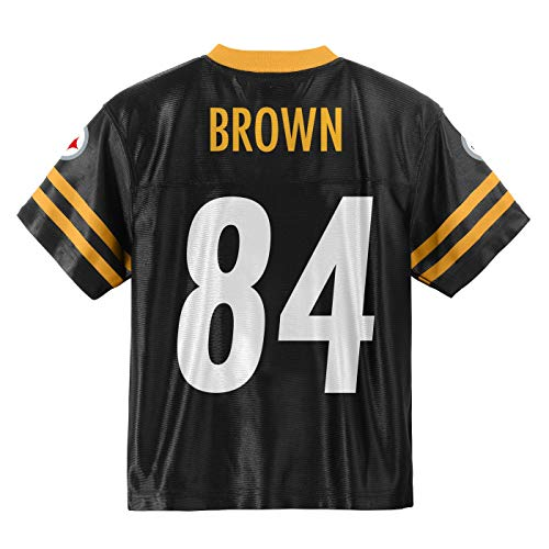 Outerstuff Antonio Brown Pittsburgh Steelers #84 Black Youth Home Player Jersey (Large 14/16)