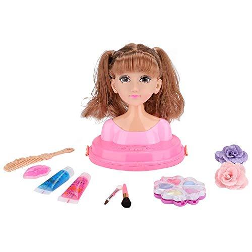 Kinderen pop make-up speelgoed, buste pop jurk set make-up kappers prinses kinderen geschenkdoos meisjes speelgoed(MY319-8)