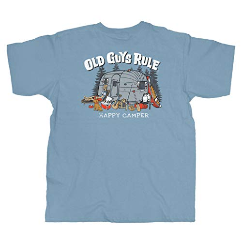 Product Image 1: OLD GUYS RULE T Shirt for Men | Happy Camper | Stone Blue