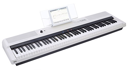 of cheap piano keyboards dec 2021 theres one clear winner The ONE Smart Stage Piano Keyboard Pro, Portable Digital Piano with Hammer Action Keys, 88 Key Full Size Weighted Keyboard Piano, White