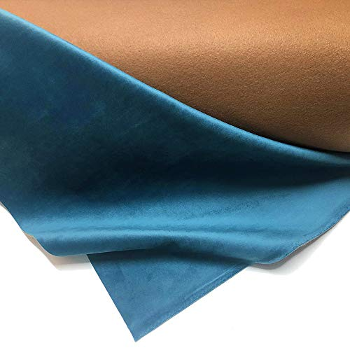AE AUTO EQUIPE Velluto al Metro Idrorepellente Azzurro per Rivestimento Poltrona, Cuscino, Divano, Pouf, sedie Made in Italy (1mt=100cmx140cm)